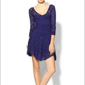 Free People | Purple Lace Long Sleeve Dress